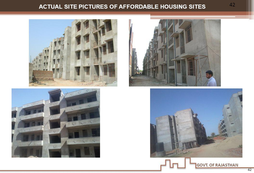 ACTUAL SITE PICTURES OF AFFORDABLE HOUSING SITES