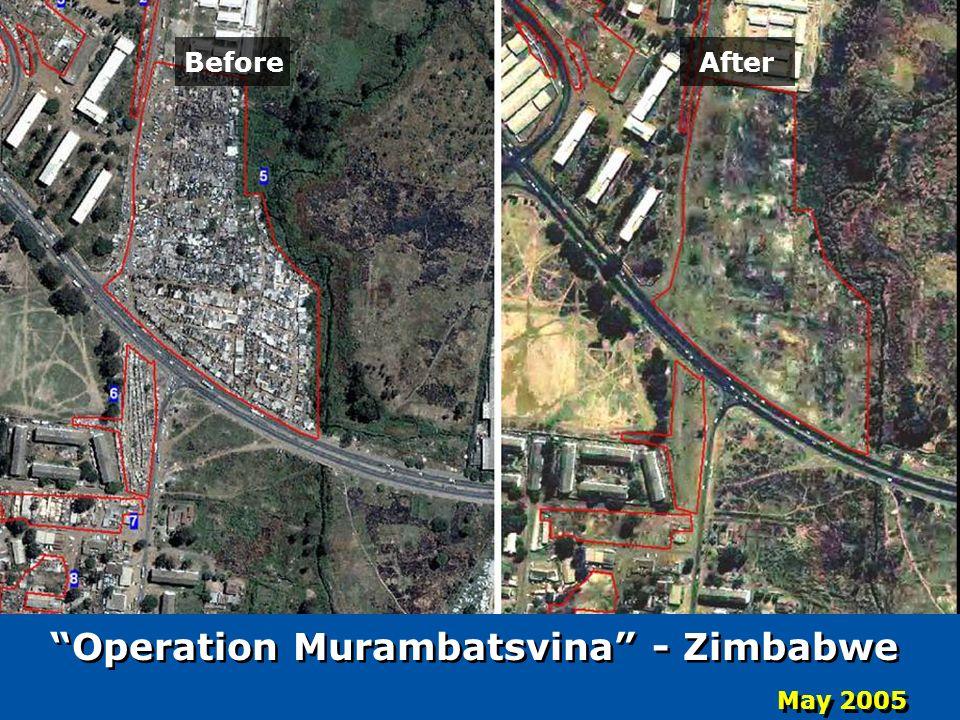 Operation Murambatsvina - Zimbabwe