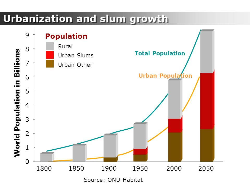 Urbanization and slum growth