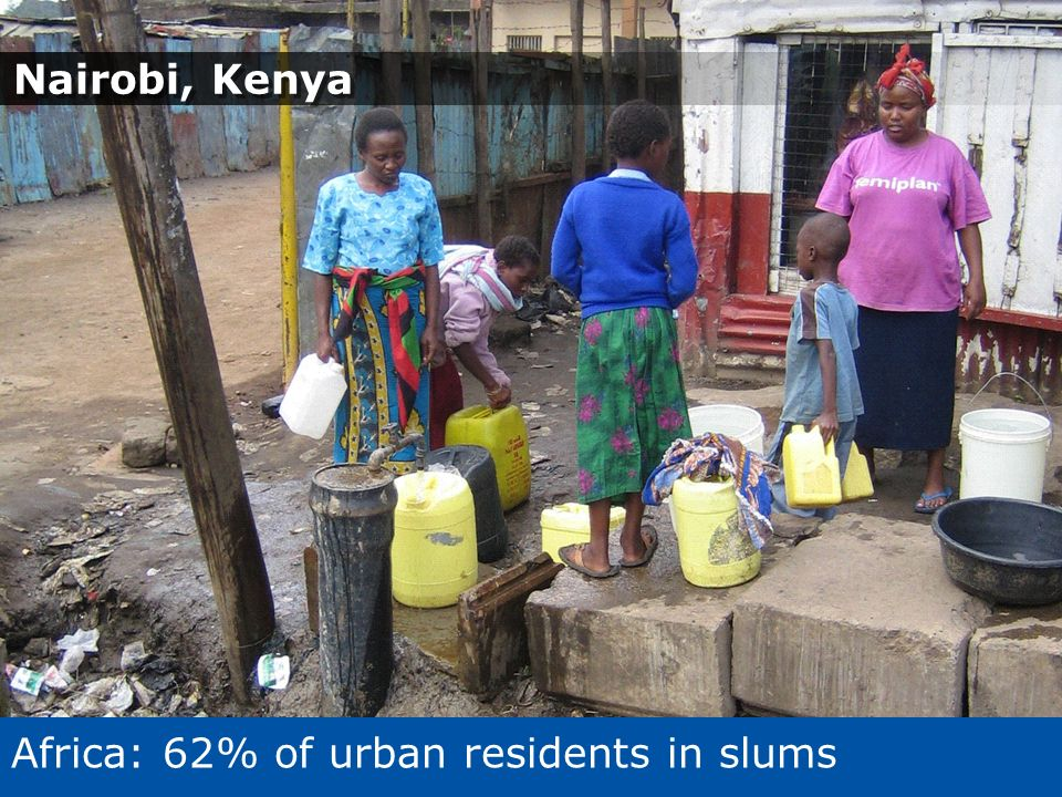 Africa: 62% of urban residents in slums