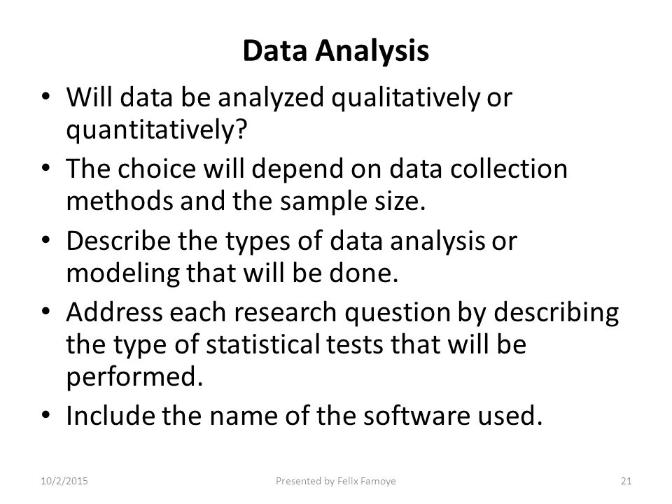 Nice Data Analysis Example. Research Methodology ...
