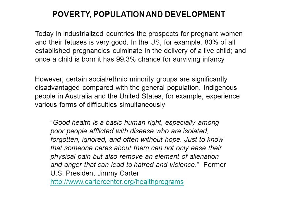 POVERTY, POPULATION AND DEVELOPMENT
