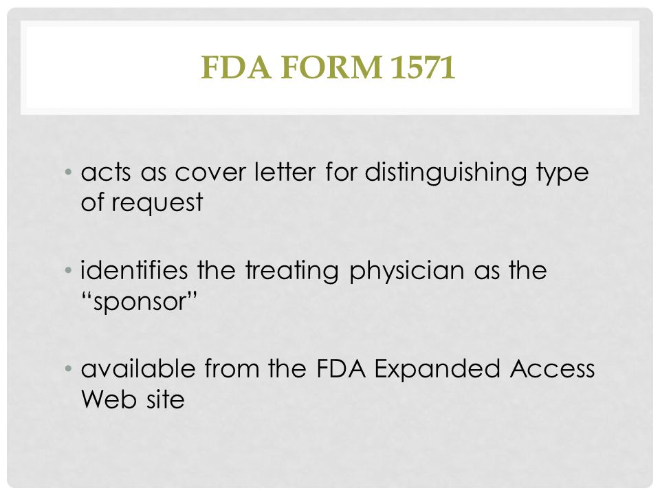 expanded access to investigational drugs; background & issues ...