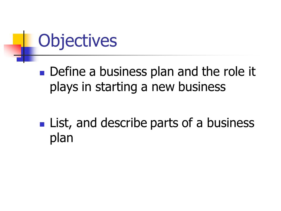 Definition of a start up business plan