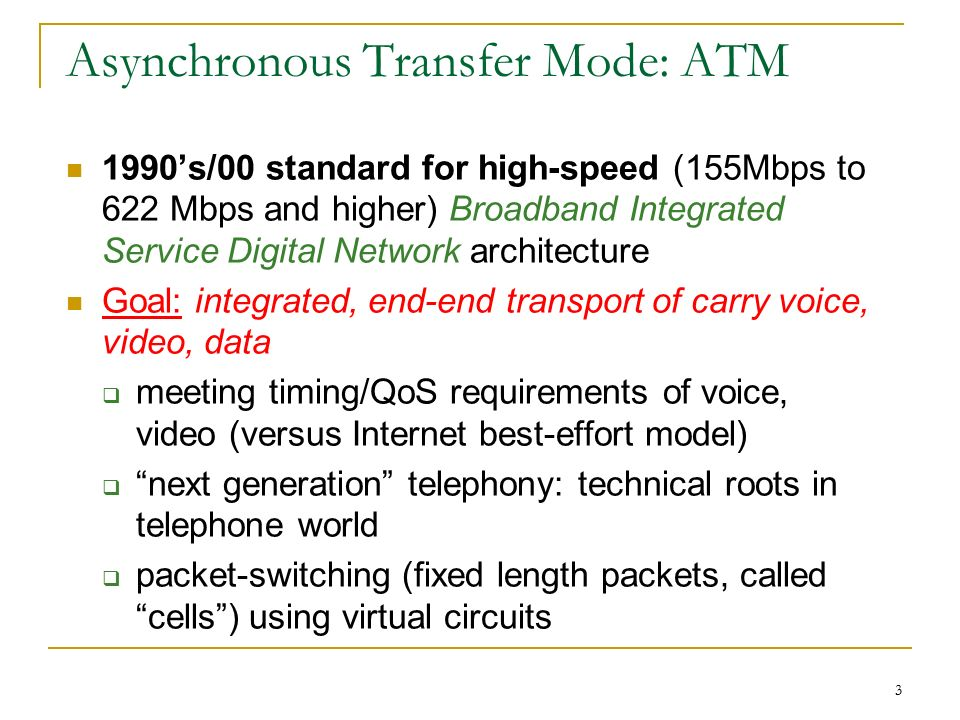 Asynchronous Transfer Mode Switching