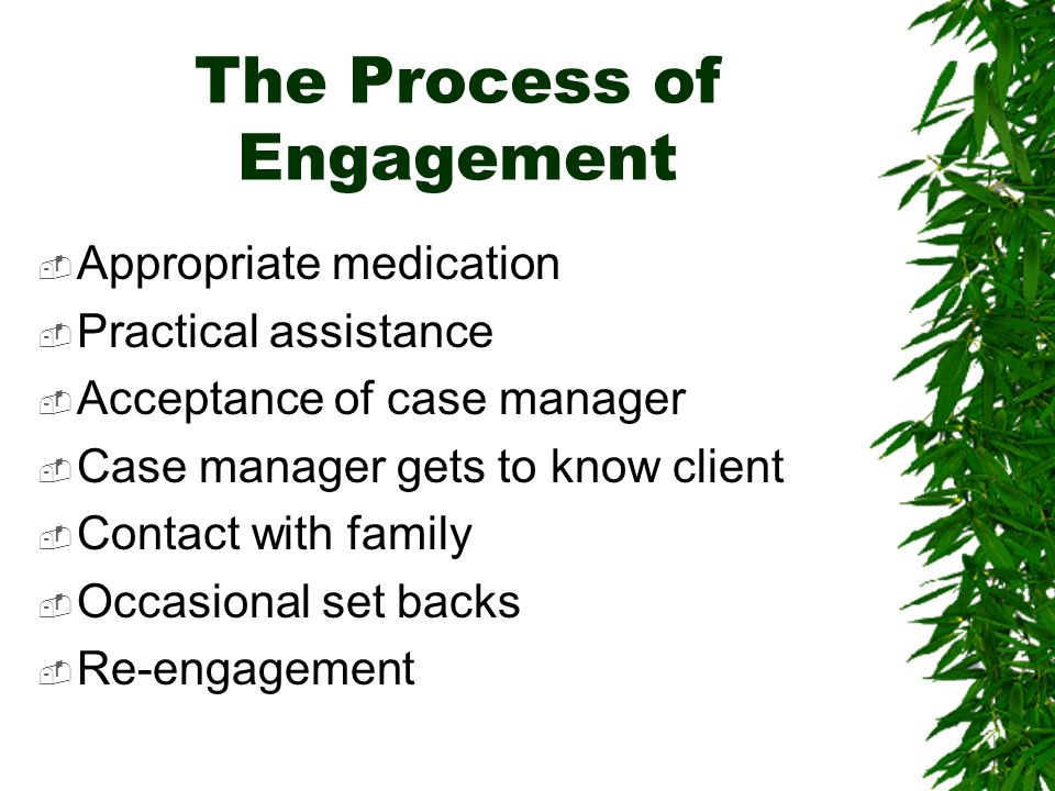 The Process of Engagement