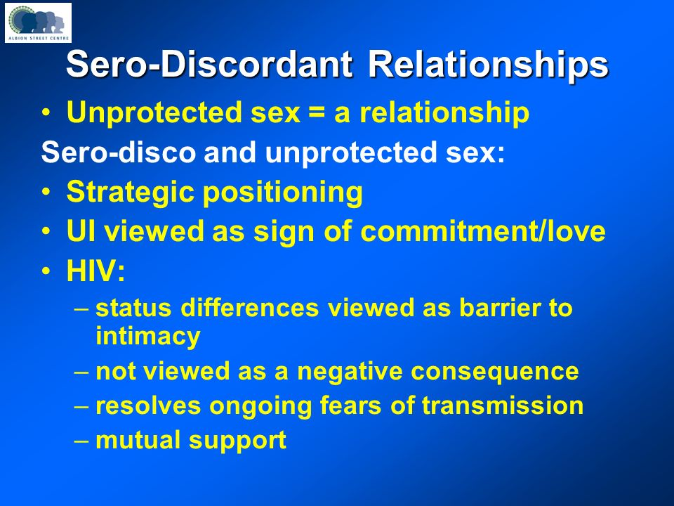 Sero-Discordant Relationships