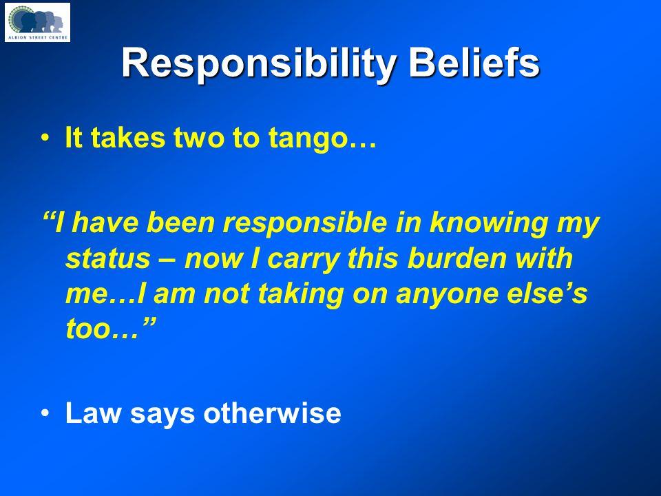 Responsibility Beliefs