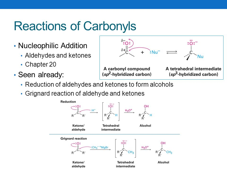 reactions of aldehydes and ketones with Reactions at the α-carbon many aldehydes and ketones undergo substitution reactions at an alpha carbon, as shown in the following diagram (alpha-carbon atoms are.