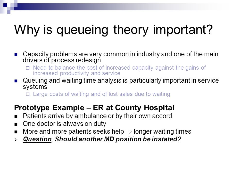 queuing theory examples problems pdf