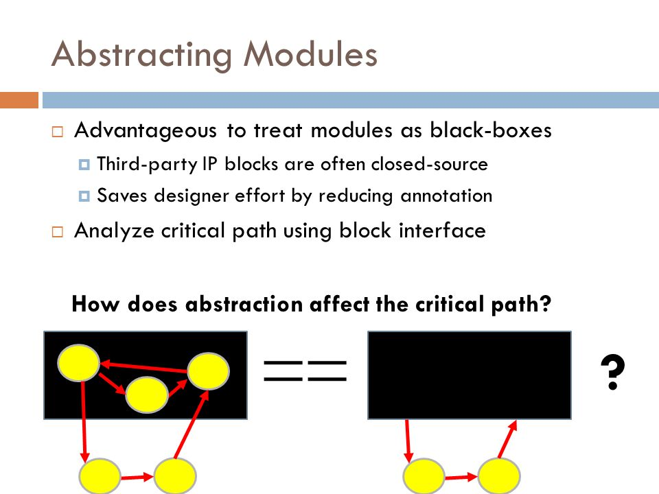 Abstracting Modules Advantageous to treat modules as black-boxes