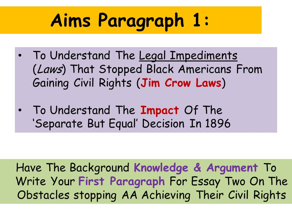civil rights 2 essay