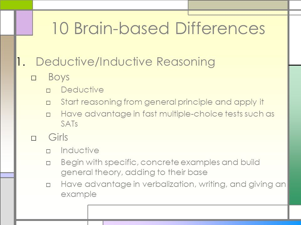 10 Brain-based Differences