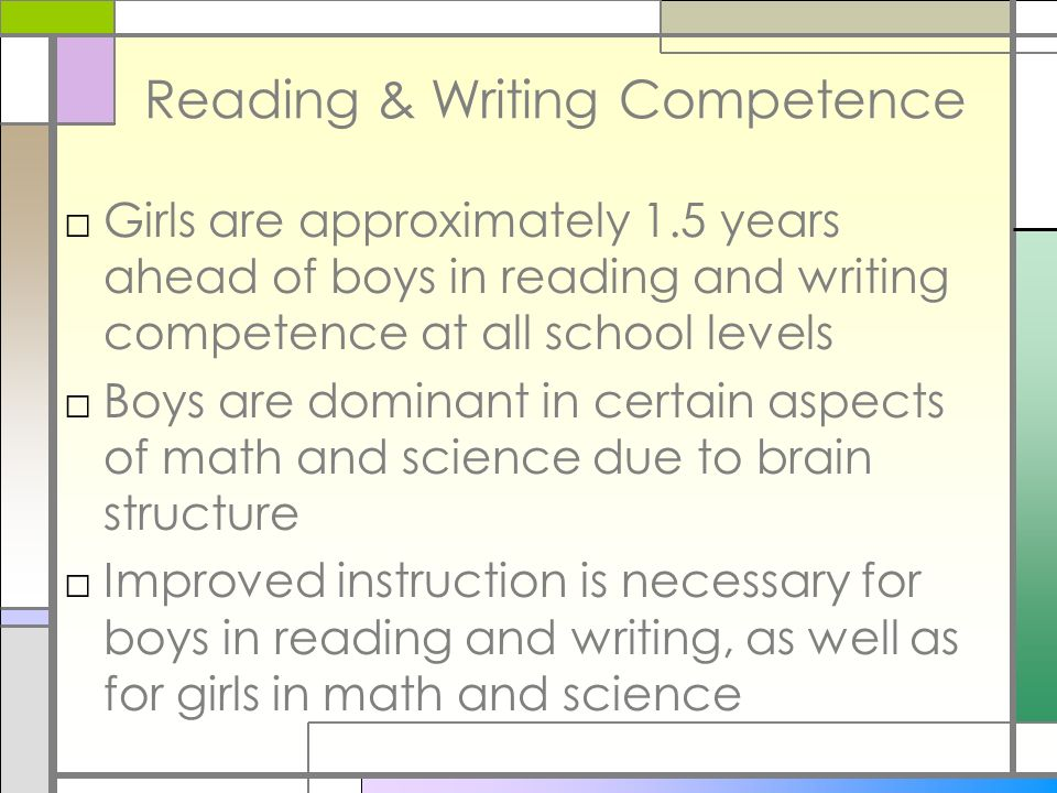 Reading & Writing Competence