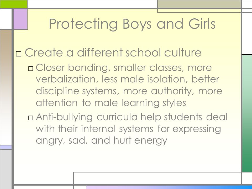 Protecting Boys and Girls