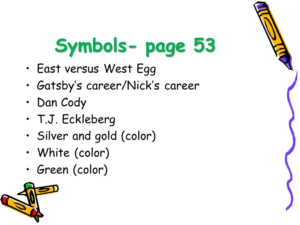 the great gatsby east versus west West egg was often looked at as new money, and east egg was looked at as old money same with the midwest vs east midwest is considered new money, and the east is considered old money.