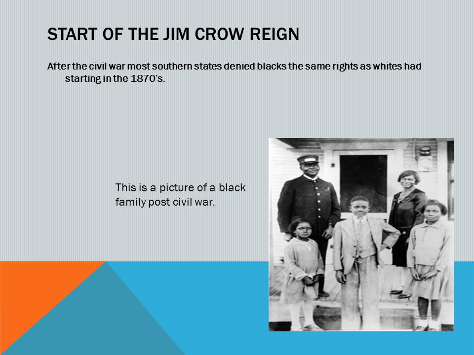 jim crow laws photo essay ppt video online  start of the jim crow reign