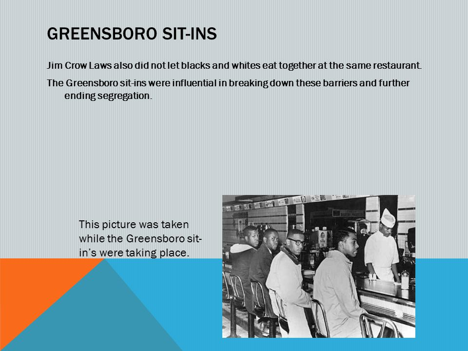 jim crow laws photo essay ppt video online  8 greensboro sit ins jim crow laws
