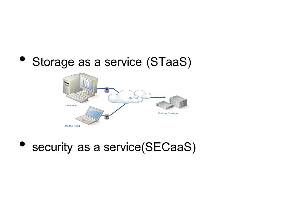 Storage as a service (STaaS)