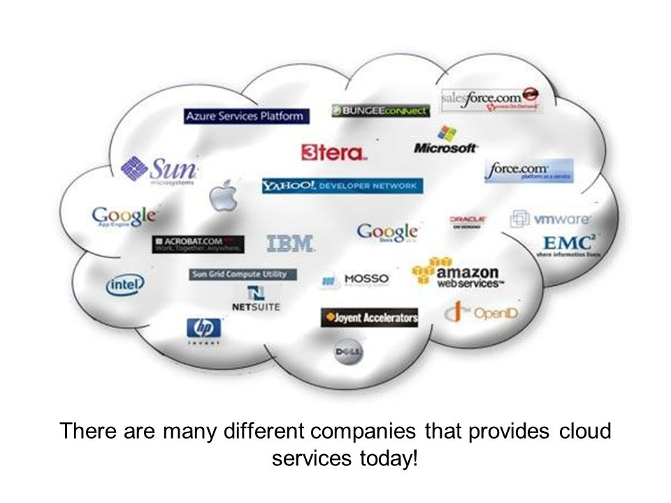 There are many different companies that provides cloud services today!