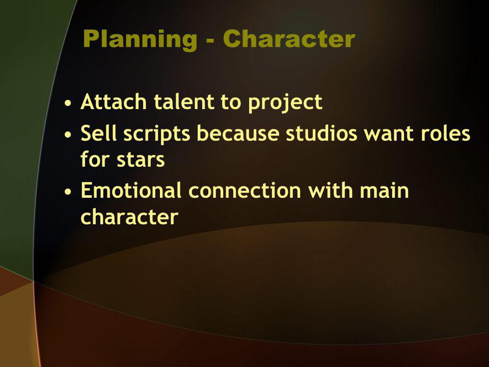 Planning - Character Attach talent to project