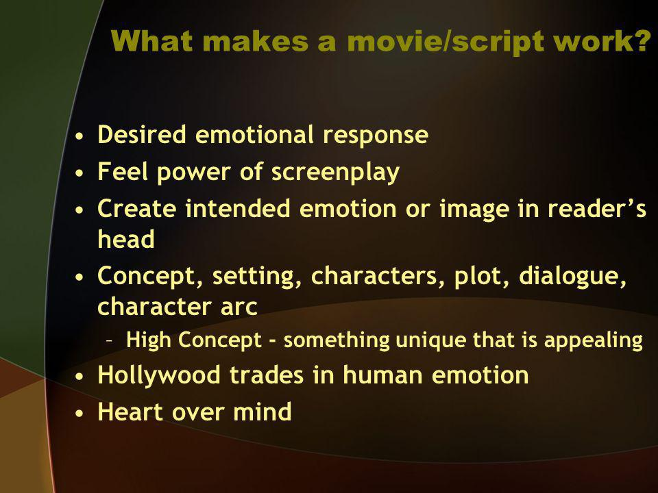 What makes a movie/script work