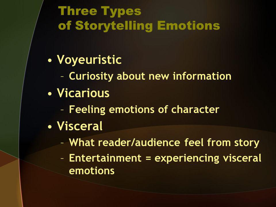 Three Types of Storytelling Emotions
