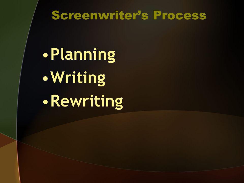 Screenwriter's Process