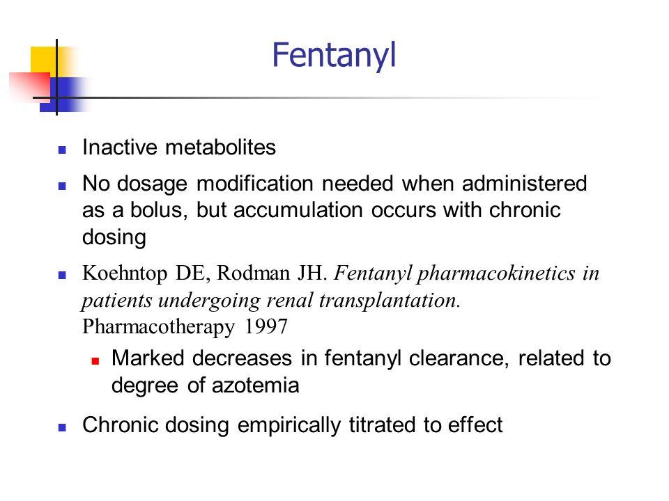 Fentanyl Inactive metabolites