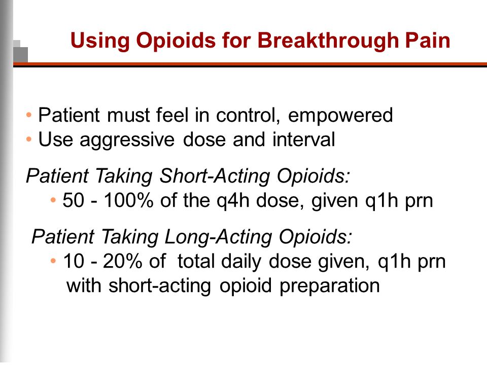 Using Opioids for Breakthrough Pain