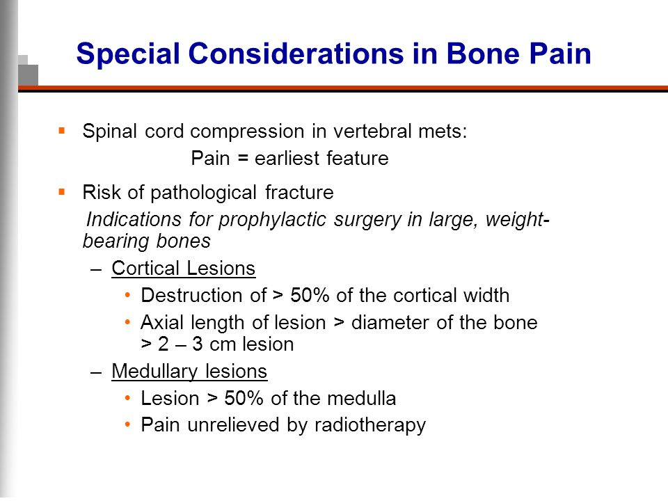 Special Considerations in Bone Pain