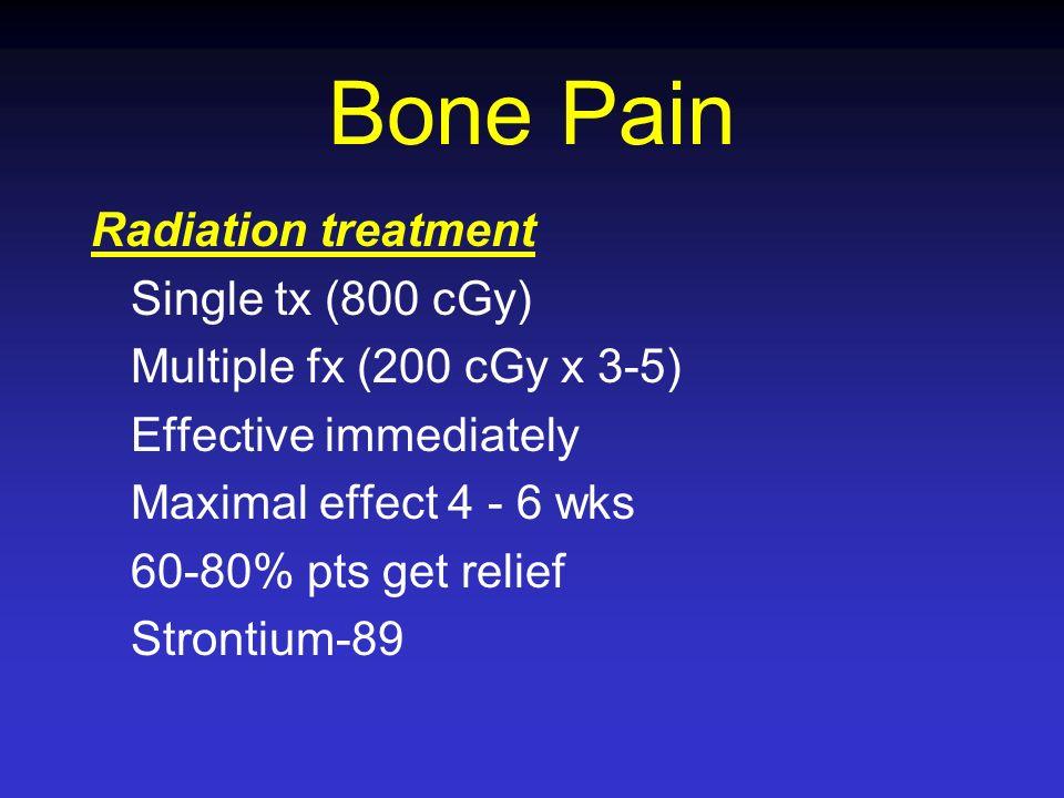 Bone Pain Radiation treatment Single tx (800 cGy)