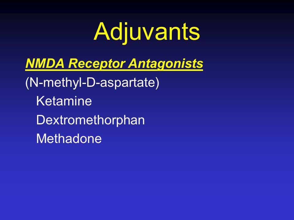 Adjuvants NMDA Receptor Antagonists (N-methyl-D-aspartate) Ketamine