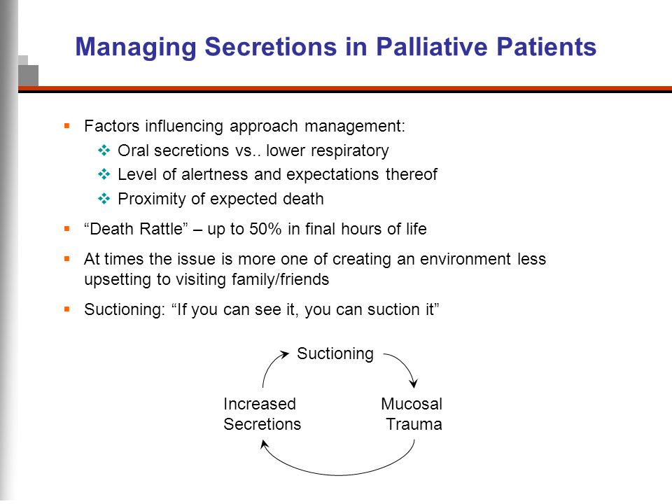 Managing Secretions in Palliative Patients