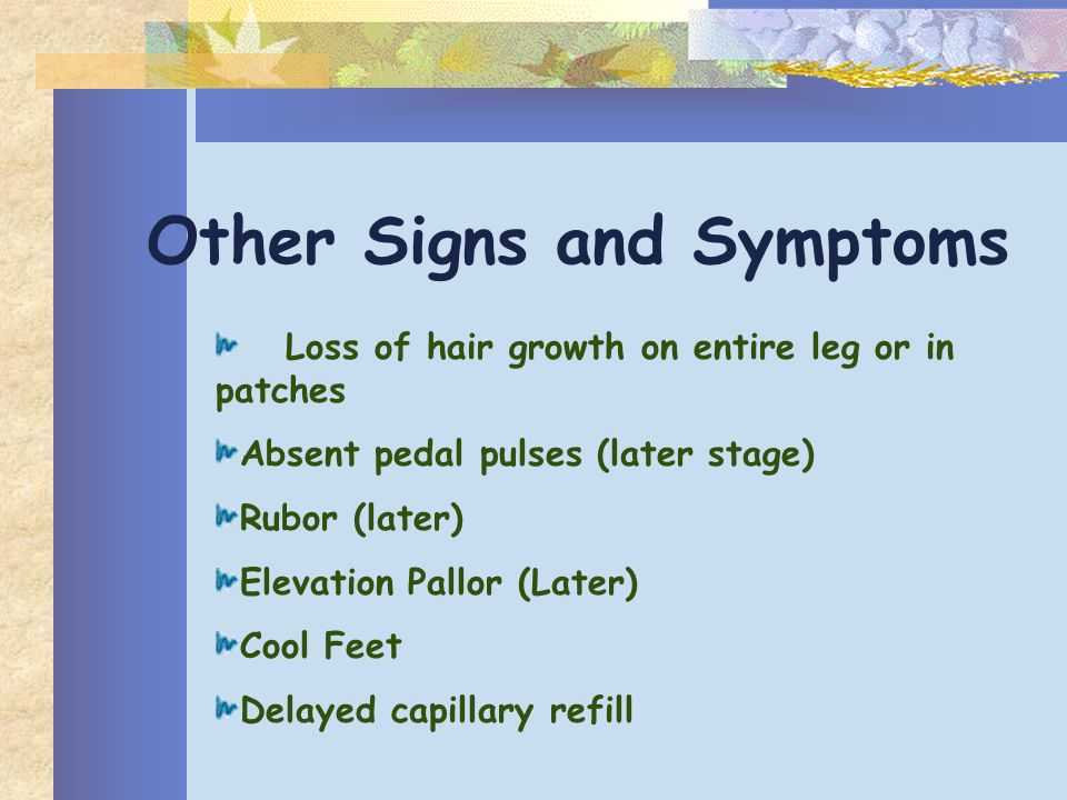 Other Signs and Symptoms