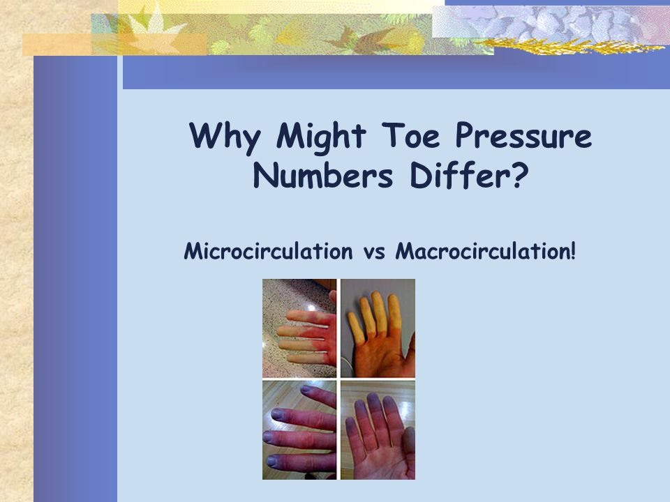 Why Might Toe Pressure Numbers Differ