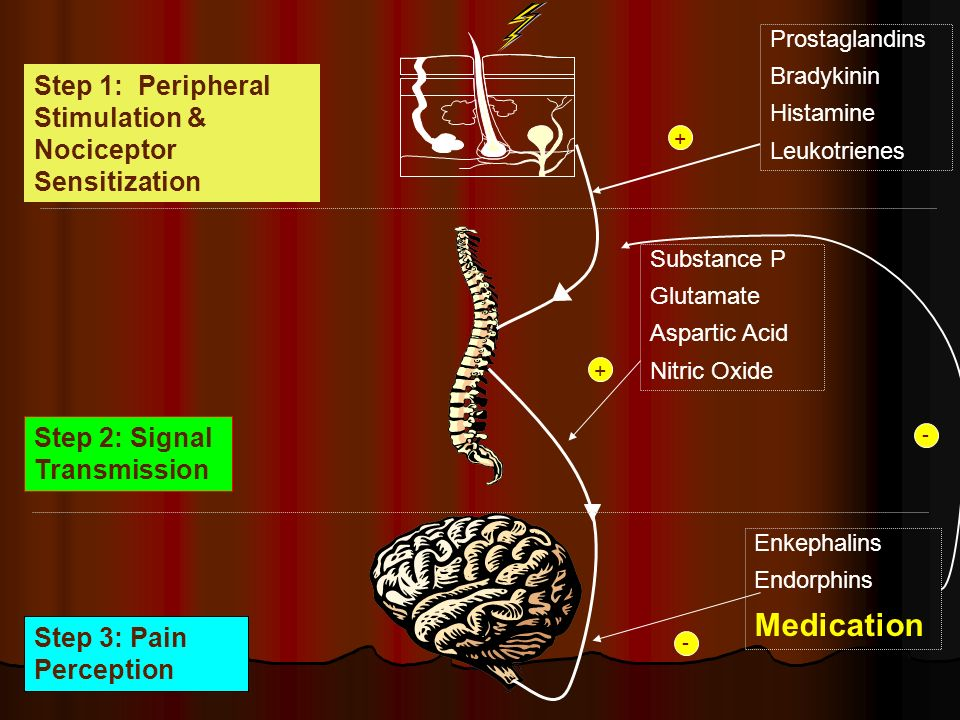 Medication Step 1: Peripheral Stimulation & Nociceptor Sensitization