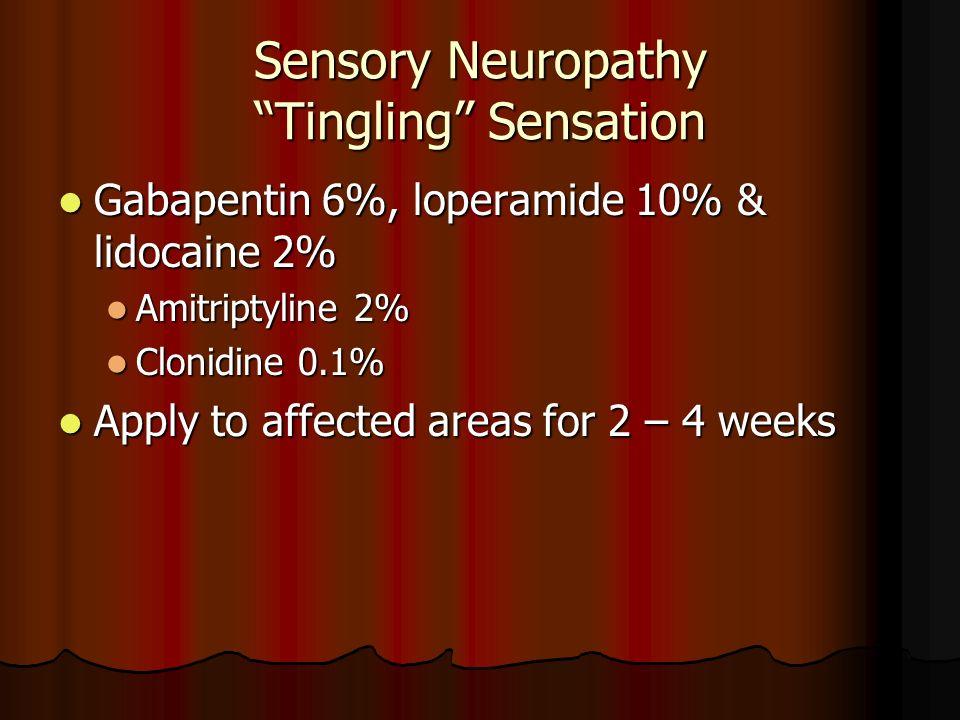 Sensory Neuropathy Tingling Sensation