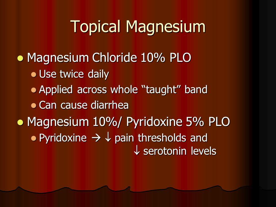 Topical Magnesium Magnesium Chloride 10% PLO