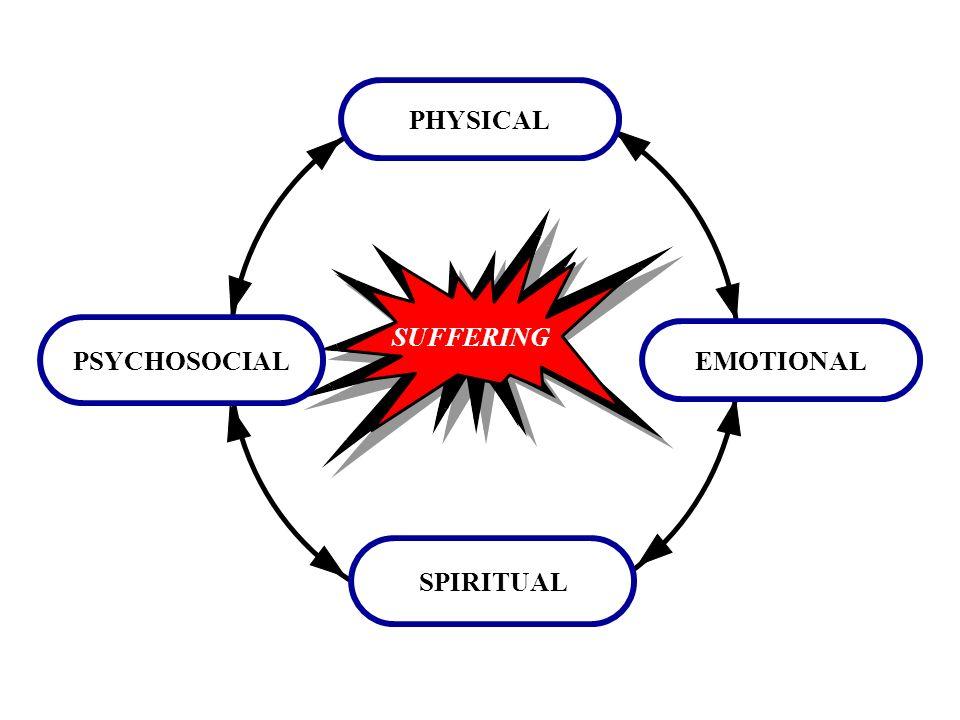 PHYSICAL PSYCHOSOCIAL SUFFERING EMOTIONAL SPIRITUAL