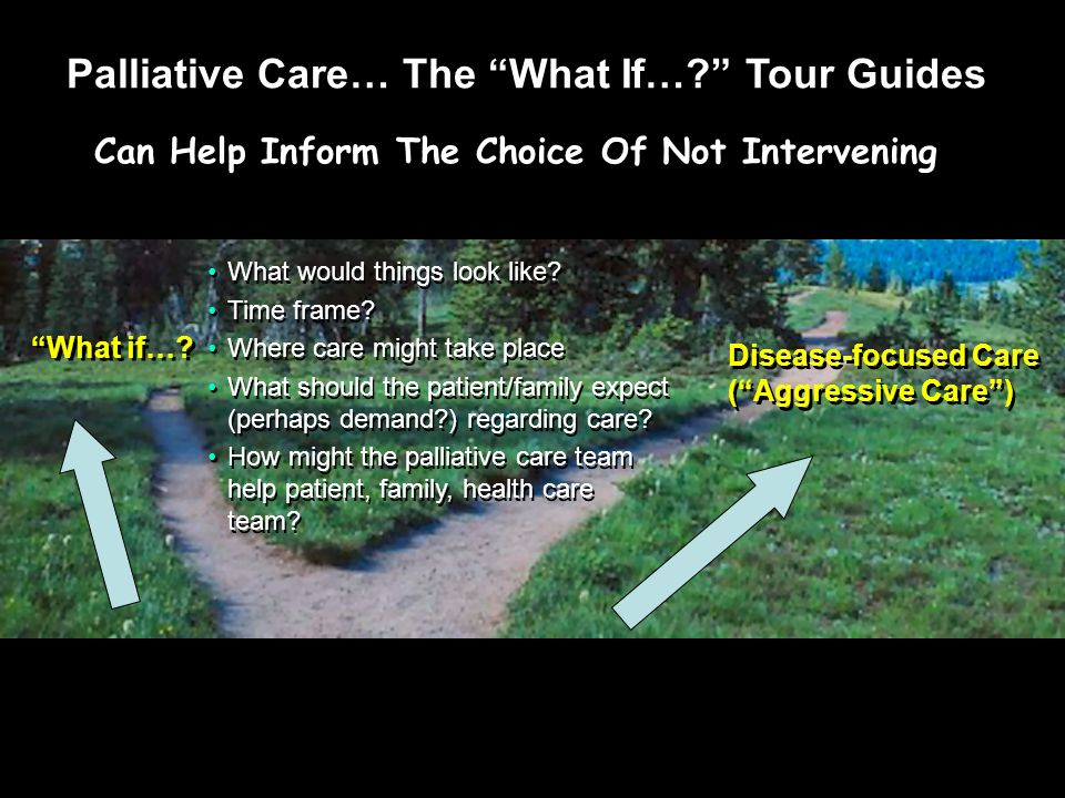 Palliative Care… The What If… Tour Guides