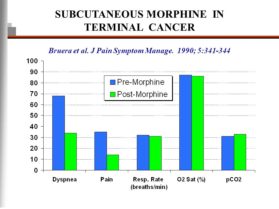 SUBCUTANEOUS MORPHINE IN TERMINAL CANCER