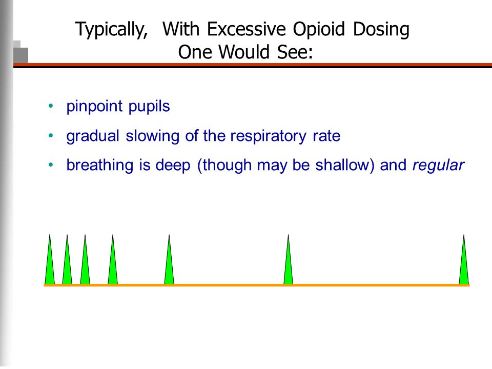 Typically, With Excessive Opioid Dosing