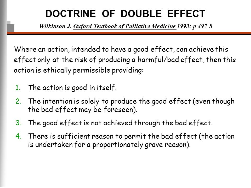 the doctrine of double effect Eleanor and co take on a logical dilemma that's befuddled philosophers for 2 episode 7 recap: the doctrine of double doctrine of double effect and.