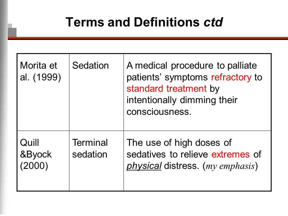 Terms and Definitions ctd