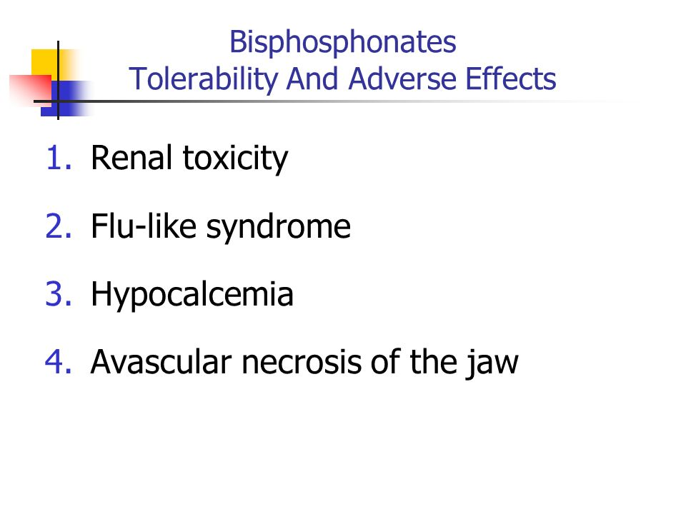 Bisphosphonates Tolerability And Adverse Effects