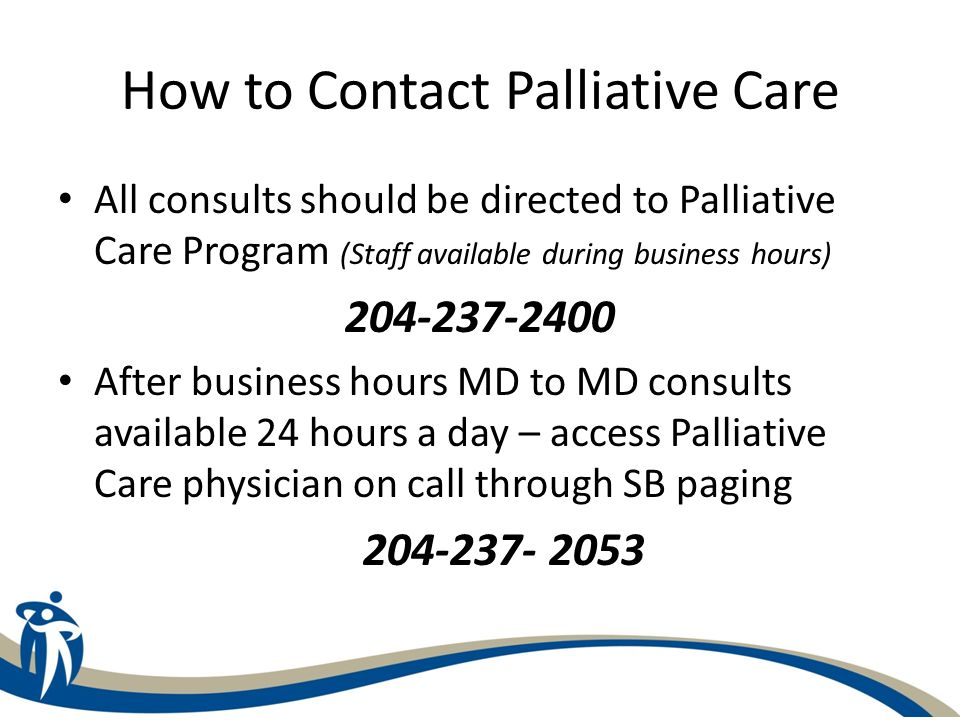 How to Contact Palliative Care