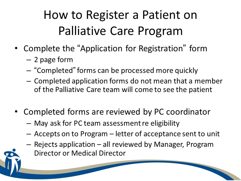How to Register a Patient on Palliative Care Program