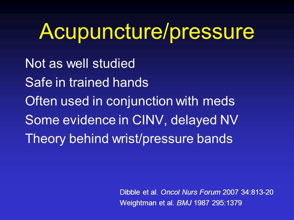 Acupuncture/pressure