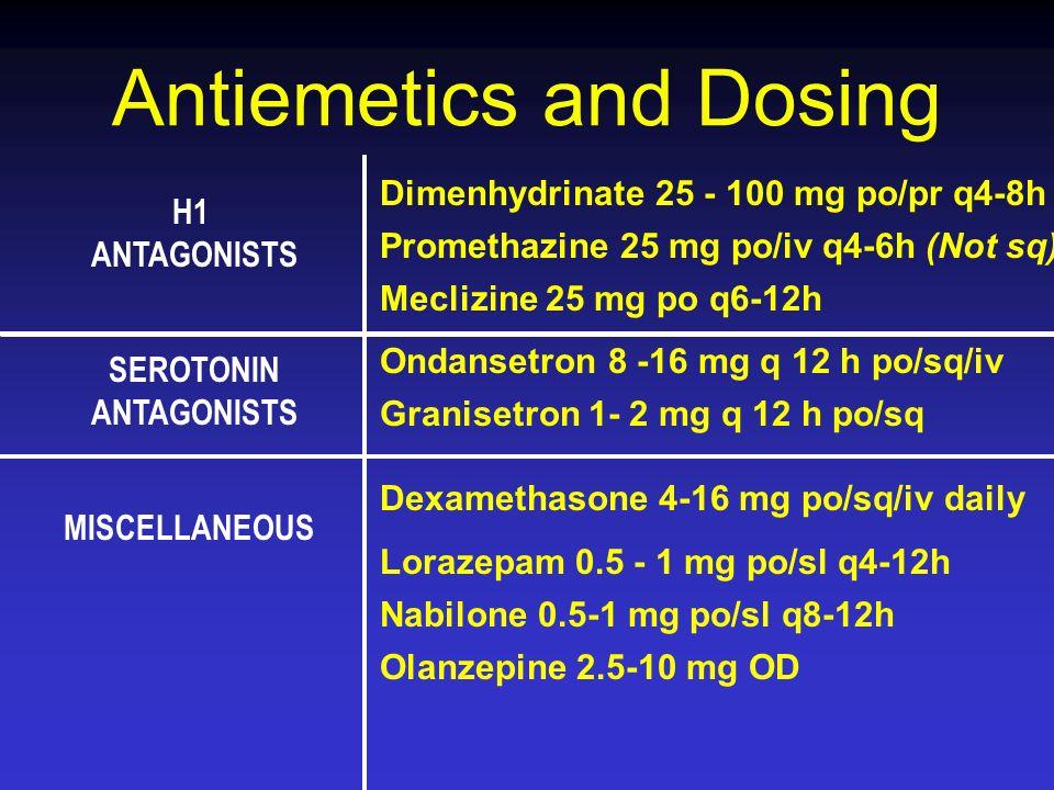 Antiemetics and Dosing